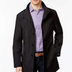 Calvin Klein Men's Slim Fit Solid Raincoat